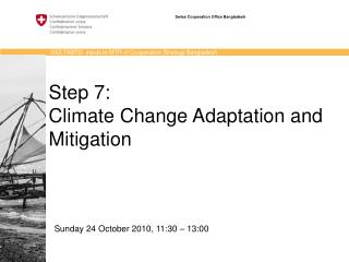 Step 7:  Climate Change Adaptation and Mitigation