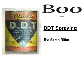 DDT Spraying