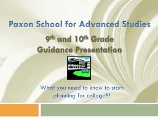 Paxon  School for Advanced Studies