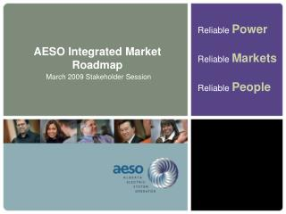 AESO Integrated Market Roadmap