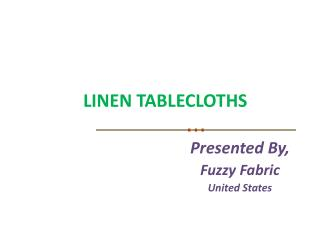 Linen Tablecloths Wholesale, United States