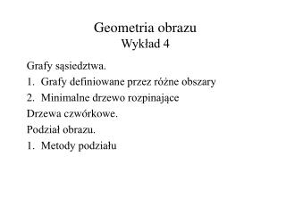 Geometria obrazu Wyk?ad 4