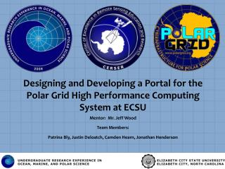 Designing and Developing a Portal for the Polar Grid High Performance Computing System at ECSU