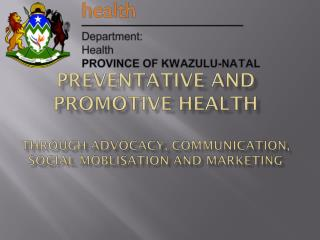 KZN Government connecting people  to quality services