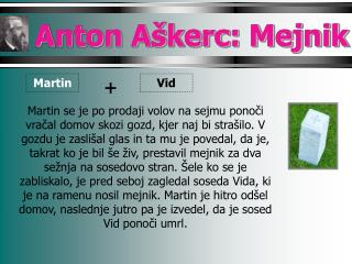 Anton Aškerc: Mejnik