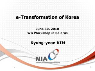 e-Transformation of Korea