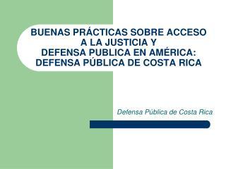 Defensa Pública de Costa Rica