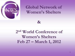 Global Network of  Women's Shelters (GNWS) gnws