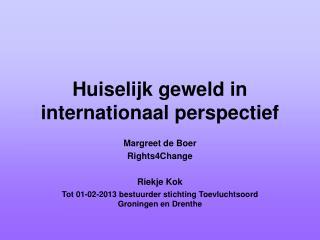 Huiselijk geweld in internationaal perspectief