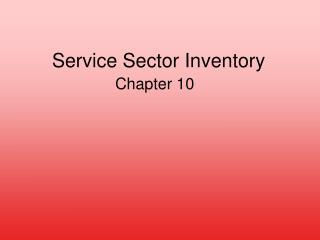 Service Sector Inventory