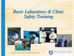 Basic Laboratory  Clinic Safety Training