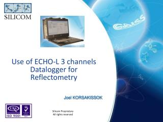 Use of ECHO-L 3  channels Datalogger  for  Reflectometry