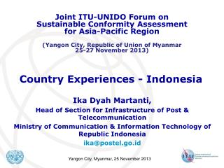 Country Experiences - Indonesia
