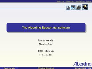 The Alberding Beacon software