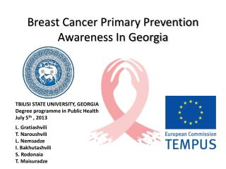 Breast Cancer Primary Prevention Awareness In Georgia