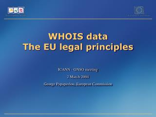 WHOIS data The EU legal principles