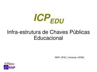 ICP EDU Infra-estrutura de Chaves Públicas Educacional