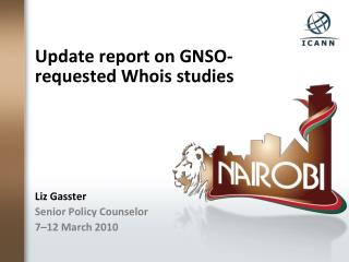 Update report on GNSO-requested Whois studies