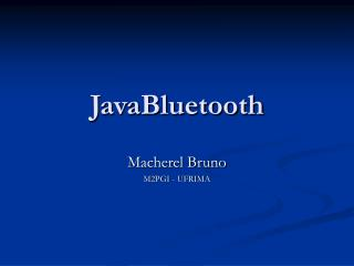 JavaBluetooth
