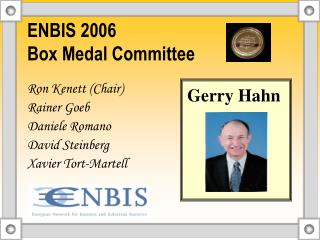 ENBIS 2006  Box Medal Committee