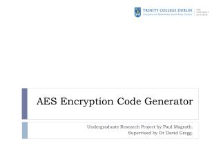 AES Encryption Code Generator