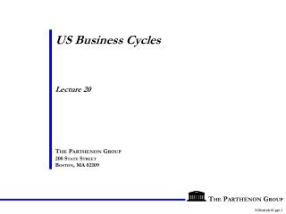 US Business Cycles