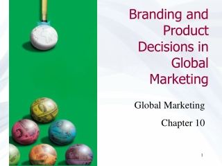 Global Marketing Management    Global Product Decisions