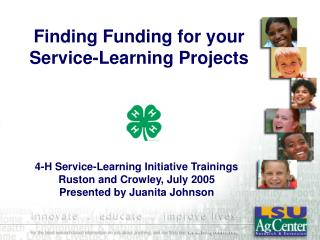 Finding Funding for your Service-Learning Projects
