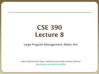 CSE 390 Lecture 8