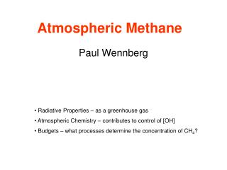 Atmospheric Methane