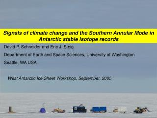 Signals of climate change and the Southern Annular Mode in Antarctic stable isotope records