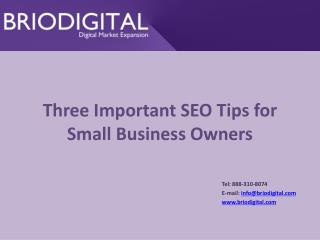 Three Important SEO Tips for Small Business Owners