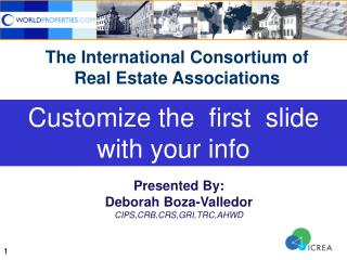 The International Consortium of Real Estate Associations