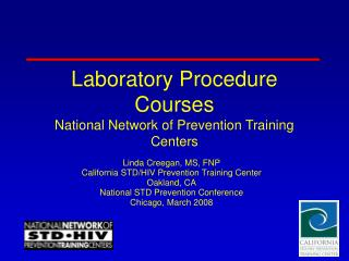 Laboratory Procedure Courses National Network of Prevention Training Centers