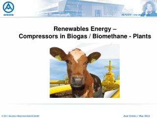 Renewables Energy –  Compressors in Biogas / Biomethane - Plants