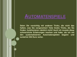 Automatenspiele