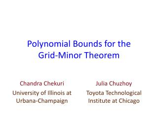 Polynomial Bounds for the  Grid-Minor Theorem