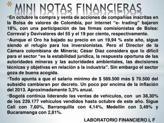 MINI NOTAS FINANCIERAS