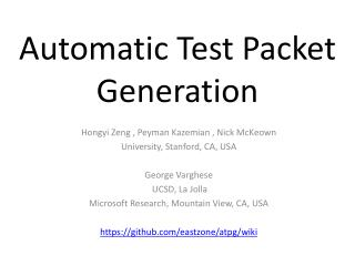 Automatic Test Packet Generation
