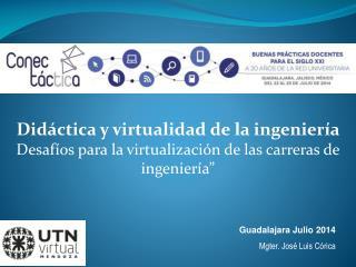 Guadalajara Julio  2014 Mgter. José Luis Córica