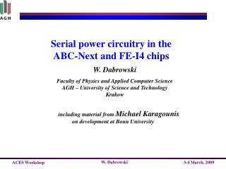 Serial power circuitry in the ABC-Next and FE-I4  chips