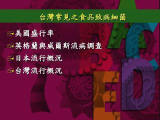 台灣常見之食品致病細菌