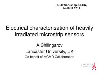 Electrical characterisation of heavily irradiated microstrip sensors