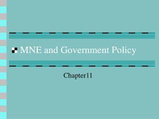 MNE and Government Policy
