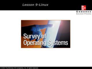Lesson 9-Linux