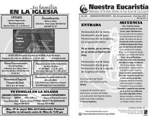 No .  443        DOMINGO DE PENTECOSTES     Mes  de la perseverancia    19 de Mayo 2013