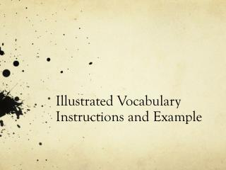Illustrated Vocabulary Instructions and Example