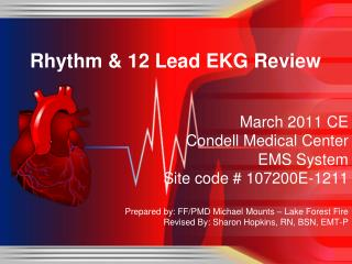Rhythm  12 Lead EKG Review