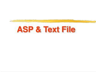 ASP & Text File