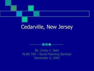Cedarville, New Jersey